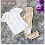 Calça Skinny Couro Ecológico - Lila