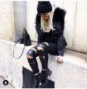 Calça Skinny Couro Legítimo - Karina