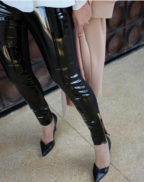 Calça Skinny Verniz Couro Legítimo Louise
