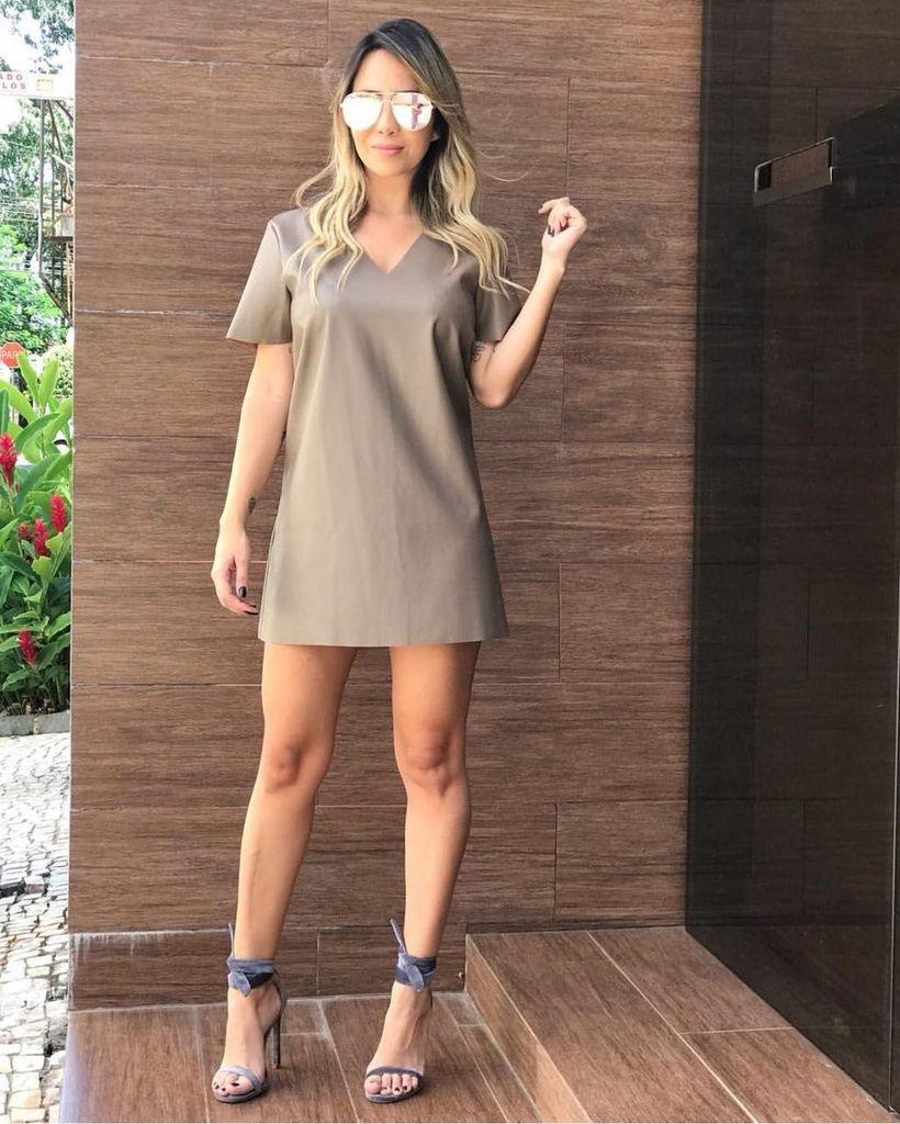 Vestido Couro Ecológico - Nábila